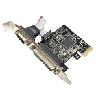 DIEWU PCI Express to 1-Serial + 1-Parallel Expansion Card