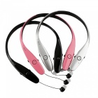 Ameter B9 Bluetooth v4.0 Retractable Sports Headphone - Pink + Black