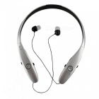 Ameter B9 Bluetooth v4.0 Retractable Sports Headphone - Black + Silver