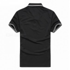 LUCKY SAILING Summer Stripe Quick Dry Men's Polo Shirt - Black (XL)