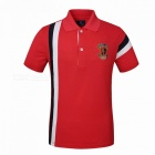 Buy LUCKY SAILING CSL03p Splicing Quick Dry Men's Polo T-Shirt - Red (M)