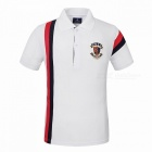 LUCKY SAILING CSL03p Splicing Quick Dry Men's Polo T-Shirt -White (XL)