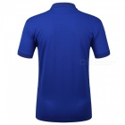 LUCKY SAILING CSL04p Splicing Quick Dry Men's Polo T-Shirt - Blue (XL)