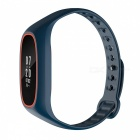 DMDG Bluetooth Sports Smart Bracelet w/ HR Monitor - Blue + Orange