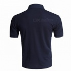 LUCKY SAILING Summer Solid Quick Dry Men's Polo Shirt - Navy (XL)