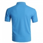 LUCKY SAILING Summer Solid Quick Dry Men's Polo Shirt - Blue (XL)
