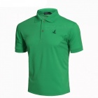 LUCKY SAILING Summer Solid Quick Dry Men's Polo Shirt - Green (XL)
