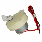 50-type Intelligent Clock Rotating 12V6rpm DC Motor - White + Silver