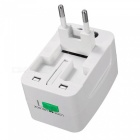 Charger Adapter Plug Jack US / EU / AC Power Converter - White