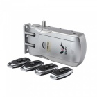 Wireless Anti-theft Indoor Lock with 4 Remote Control Keys (2 * AA Batteries)