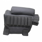 Outdoor Multifunctional Nylon Tactical Bullets Chin Bag - Black