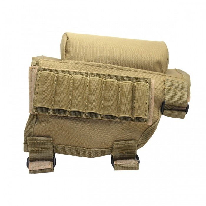 Outdoor Multifunctional Nylon Tactical Bullets Chin Bag - Tan