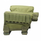 Outdoor multifunctional nylon tactical bullets chin bag - army green