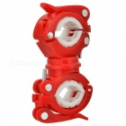 360 Degree Rotating Bicycle Lamp Holder / Light Clip - Red + White