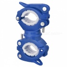360 Degree Rotating Bicycle Lamp Holder / Light Clip - Blue + White