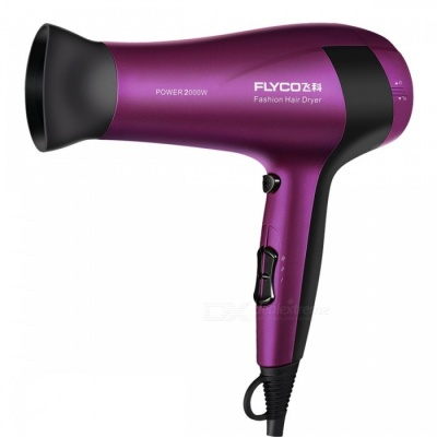 Flyco FH6618 2000W Household Hair Dryer - Purple