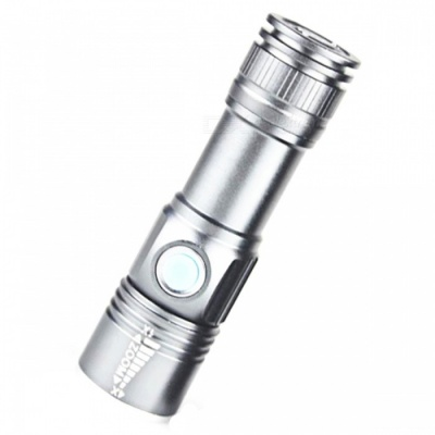 Jiaoyan 3 Mode Mini Zoom Rechargeable Powerful USB LED Flashlight