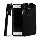 KICCY 4-in-1 Phone Case w/ Camera Lens for IPHONE 6 6S - Black