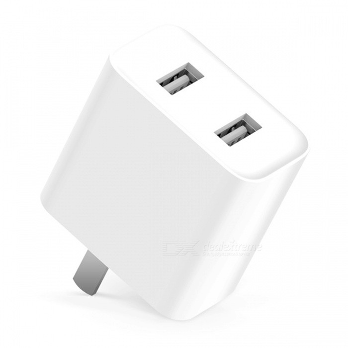Original Xiaomi 2-Port USB 2A Fast Charging Portable Charger - White