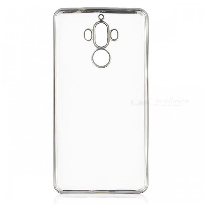 Protective TPU Back Case Cover for HUAWEI Mate 9 - Silver+ Translucent
