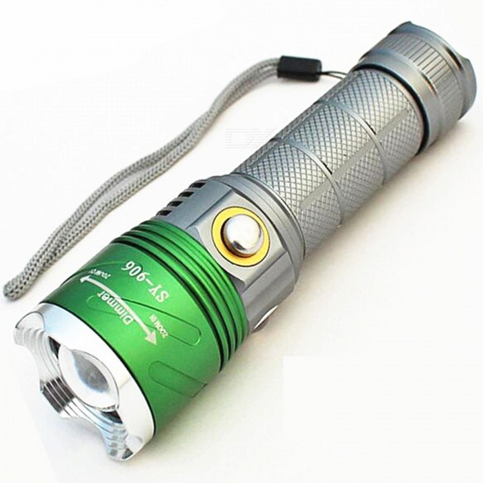 Jiaoyan Fluorescent Agent Detection LED Flashlight - White + Green