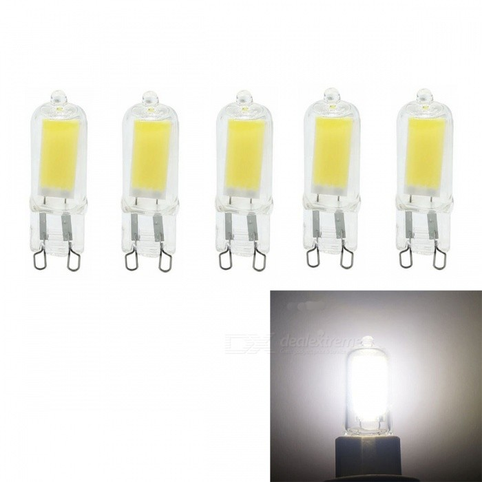 JRLED G9 5W COB Dimmable Froid LED ampoules LED (AC 220V / 5 PCS)