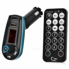 MP3 Player Hands-free Car Kit w/ Remote Controller for all Mobile Phones, Support TF / U Disk Play