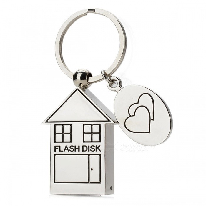 House Style Stainless Steel USB-muistitikku Pendrive - Silver (4GB)
