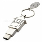 Estilo de la casa de acero inoxidable unidad flash USB Pendrive - plata (4 GB)