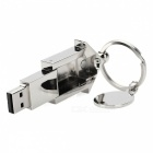 House Style Stainless Steel USB Flash Drive Pendrive - Silver (16GB)