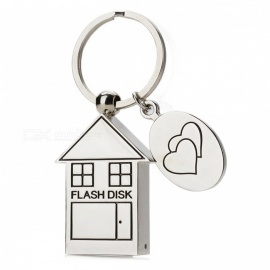 House Style Stainless Steel USB Flash Drive Pendrive - Silver (32GB)