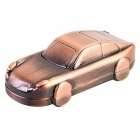 16GB Mini Metal Car USB 2.0 muistitikku U Disk-Bronze + Red