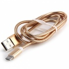 V8 Micro USB 2.0 to USB Charging Cable for Android Phones - Golden