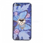 BLCR Floral + Butterfly Pattern TPU Case for IPHONE 7 - Blue