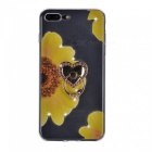 BLCR Sunflower Pattern TPU Case for IPHONE 7 - Black + Yellow