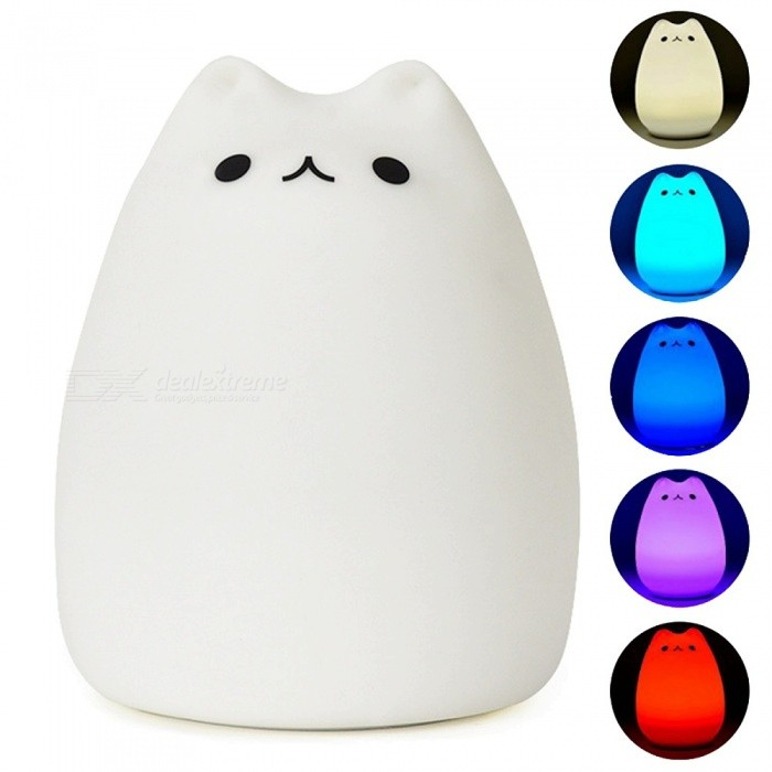 YouOKLight Dimming Colorful Cute Cat Night Light w/ Remote Controller