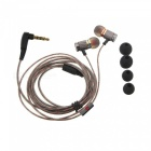 KZ ED2- hifi-Metal In-Ear ear kuuloke w / mikrofoni - Golden