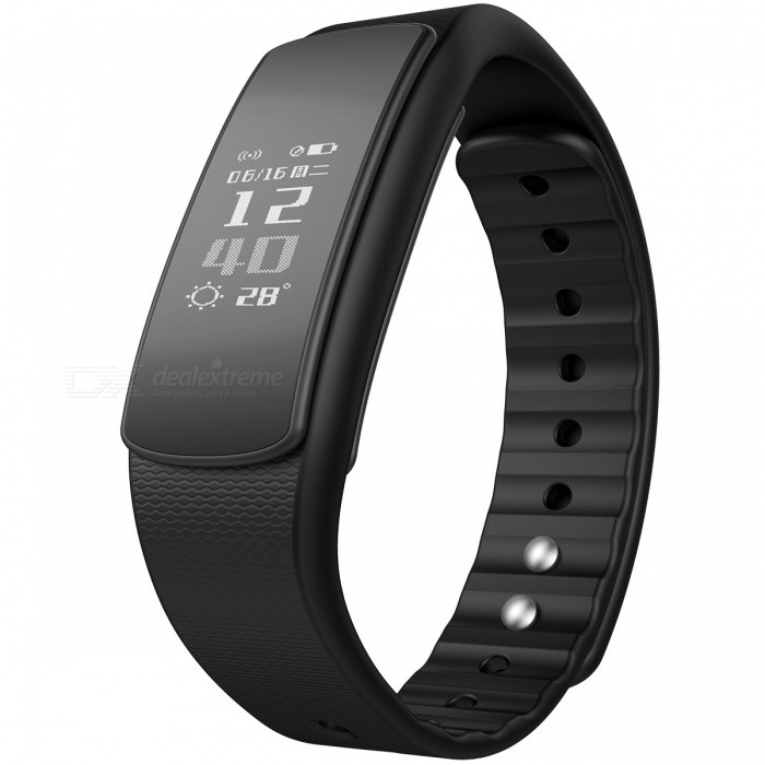 iwownfit I6HR TPU + TPE Bluetooth v4.0 IP67 Smart Wristband - Black [фото3]