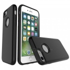 Protective Wire Drawing PC + TPU Back Case for IPHONE 7 - Black