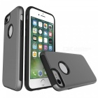 Protective Wire Drawing PC + TPU Back Case for IPHONE 7 - Grey