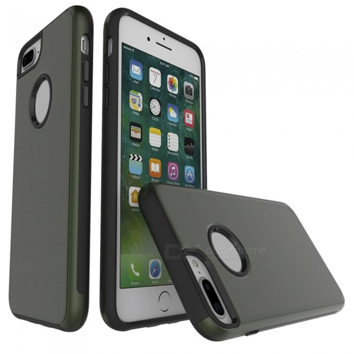 huge selection of acc84 649d1 Wire Drawing PC + TPU Back Case for IPHONE 7 PLUS 5.5 - Army Green