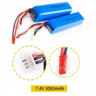 HJ 7.4V 3000mAh Battery for FRSKY X9D PLUS Remote Control - Blue + Red