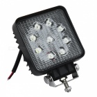 27W studená bílá 6000K LED Car Spotlight Head Lamp (DC 12 ~ 24V)