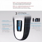 Kemei LCD 4D flottant rechargeable Electrics Shaver 100 ~ 240V