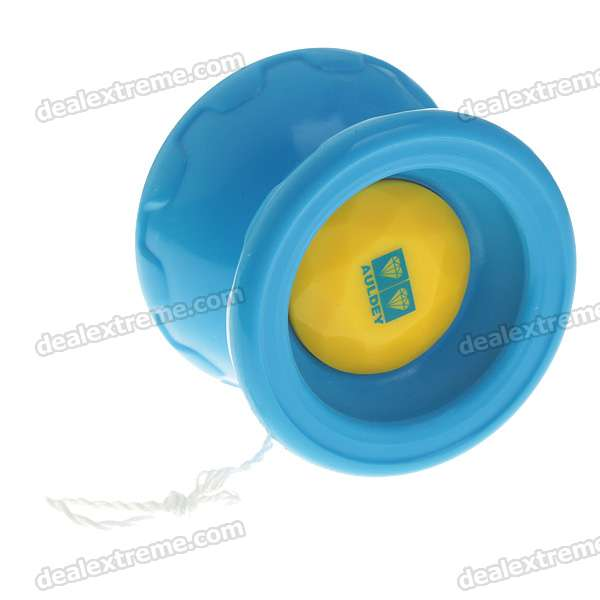 Genuine Auldey Double Drill Yo-Yo Blazing Team - Blue + Yellow