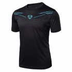 LUCKY SAILING LS01 Quick Dry Men's Short Sleeve T-shirt - Black (XL)