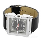 Stylish Leather Band Wrist Watch - Black (1*377)