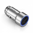 CHUWI C-100 5V 2.4A Dual USB Smart Fast Charging Car Charger - Silver