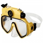 20m Snorkling Scuba 720P Digital Diving Camera Mask - Gul