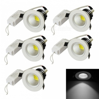 JIAWEN 10W Cold White Dimmable Anti-glare COB LED Ceiling Light (5PCS)